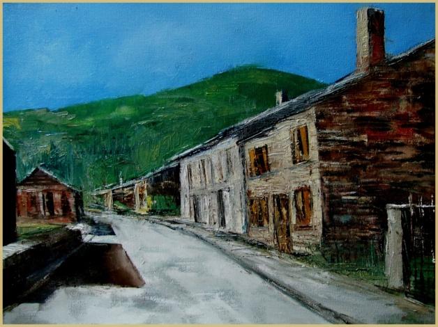 Huis haulme geschilderd door Urbain Marin